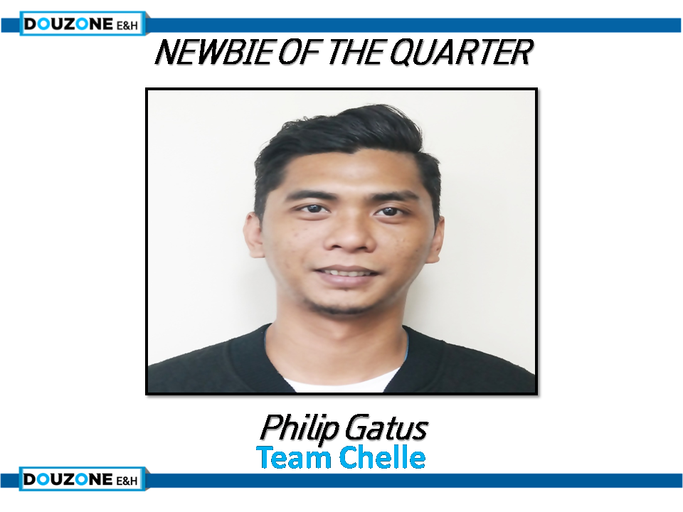 Newbie of the quarter