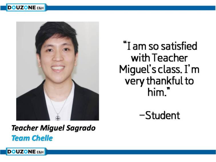 Teacher Miguel